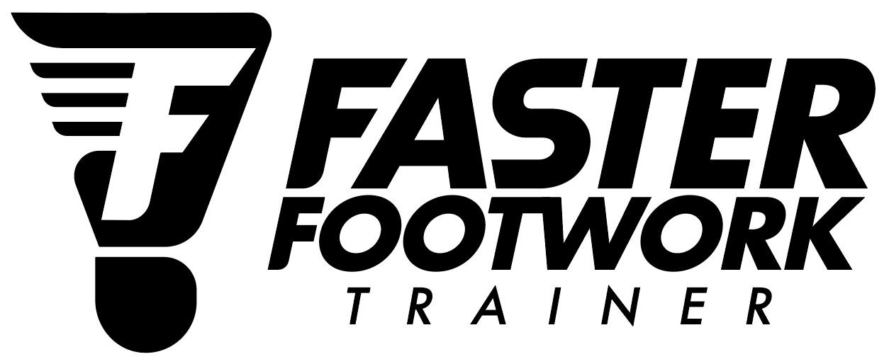 Badminton Faster Footwork Trainer Logo Black